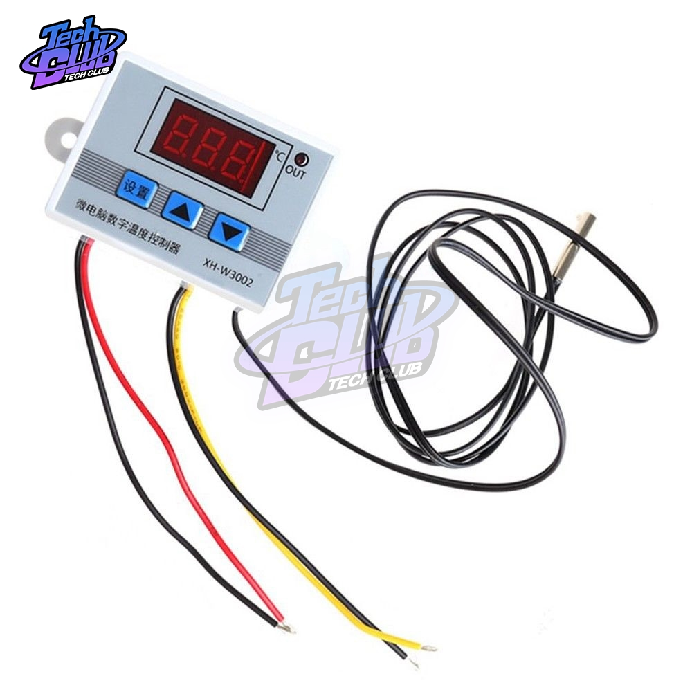 DC 12V 24V AC 110V-220V <font><b>W3002</b></font> Digital LED Temperature Controller 10A Professional Thermostat Regulator XH-3002 image