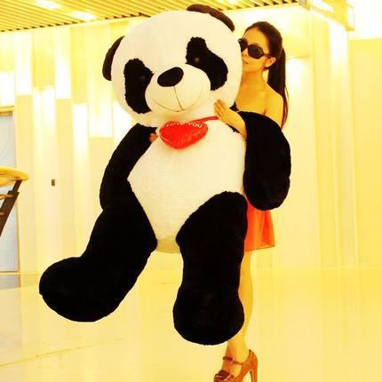 huge 160cm stuffed fillings 100% cotton plush toy Panda plush toy i love you  panda doll, hugging pillow ,Christmas gift w0743 stuffed animal 75 cm panda plush toy i love you red heart panda doll throw pillow gift w3501