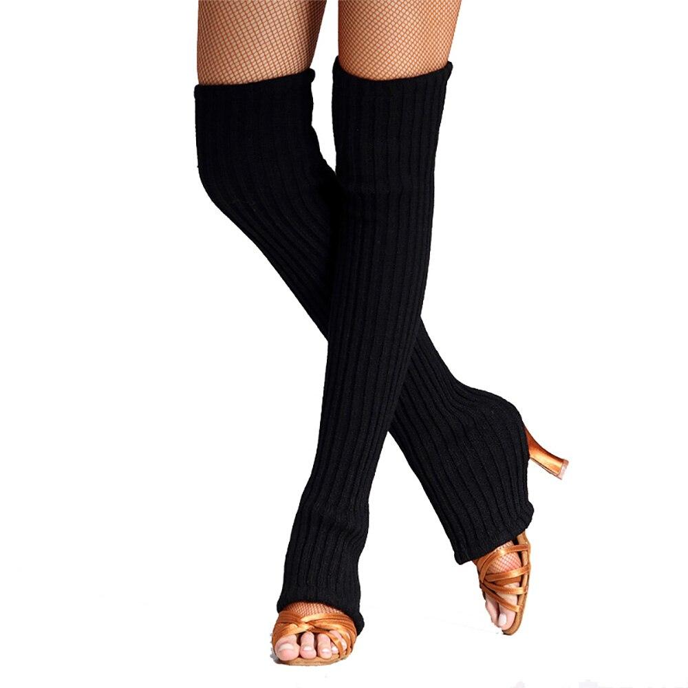 2017 New Sexy Lady Latin Dance Sock Black Jumper Stamped Design Adult Women Comfortable Warm Leggings Rumba Samba MD6511