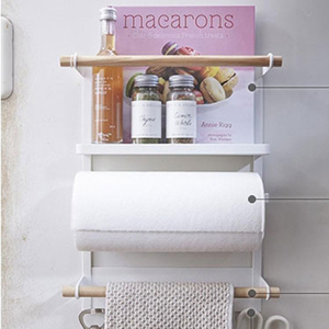 Image 2 - Nordic Metal Iron Storage Shelf Magnet adsorption refrigerator Condiment bottles Sundries Storage Holders Organizer for Home