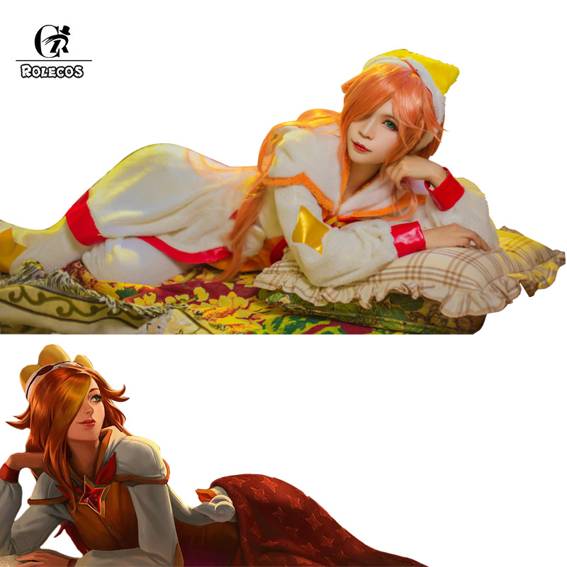 ROLECOS Pajama Star Guardian LOL Cosplay Costume Miss Fortune Cosplay Costume Women Pajama for Winter LOL