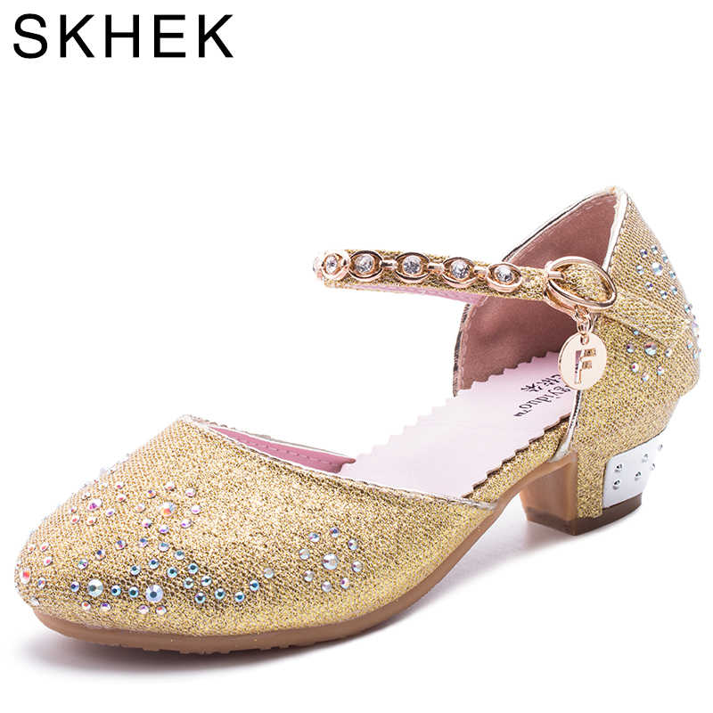 Весна, лето, осень фестиваль сандалии для девочек детей женские туфли на  высоком каблуке для 091961bdec2