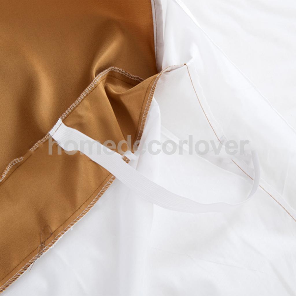 metal platform bed frame Luxury Plain Dyed Poly Polyester Platform Base Valance Sheet Bed Skirt Apron (Full, Queen, King Size Choice)