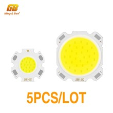 5PCS LED COB Chip 15W 12W 10W 7W 5W 3W High Power Lumen Lamp DC 9-50V For DIY Outdoor Floodlight Spotlight Cold White Warm White(China)