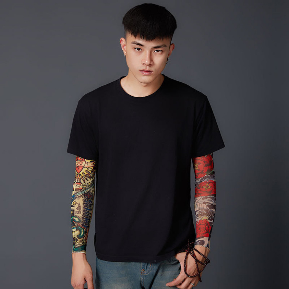 Fashion Tattoo Sleeve  Arm Warmers Sun Protection Outdoor Sport Protection Sleeve Trend Street Realistic Tattoo Arm Warmers XB40