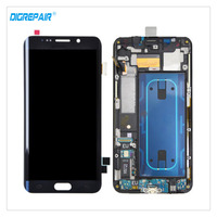 New Blue For Samsung Galaxy S6 Edge Plus SM-G928F LCD Display Digitizer Touch Screen Assembly Replacement Parts With Bezel Frame