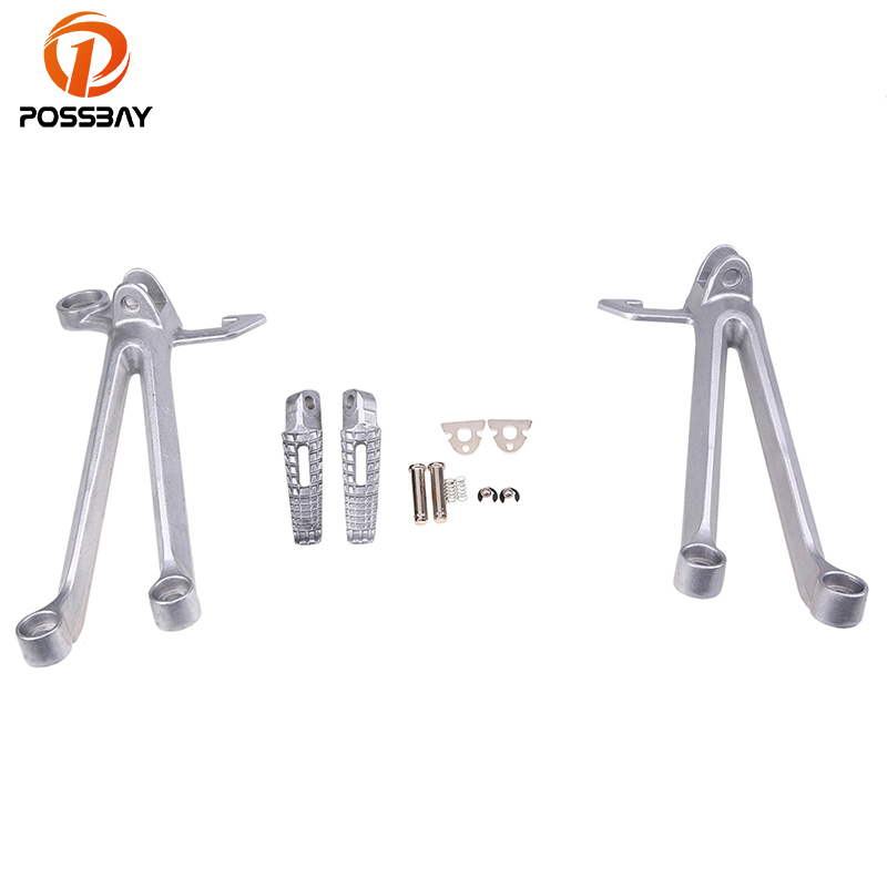 POSSBAY Aluminum Motorcycle Rear Highway Foot Pegs With