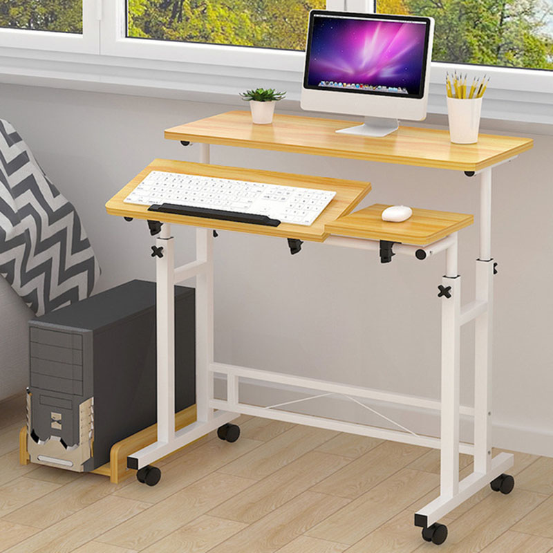 Actionclub Simple mode Mobile levage vers le bas ordinateur de bureau bureau plié réglable Table d'apprentissage salle d'étude