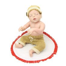 22 Inch Sleeping Reborn Baby Doll Full Body Silicone Realistic Newborn Boy Babies That Look Real Kids Christmas Birthday Gift