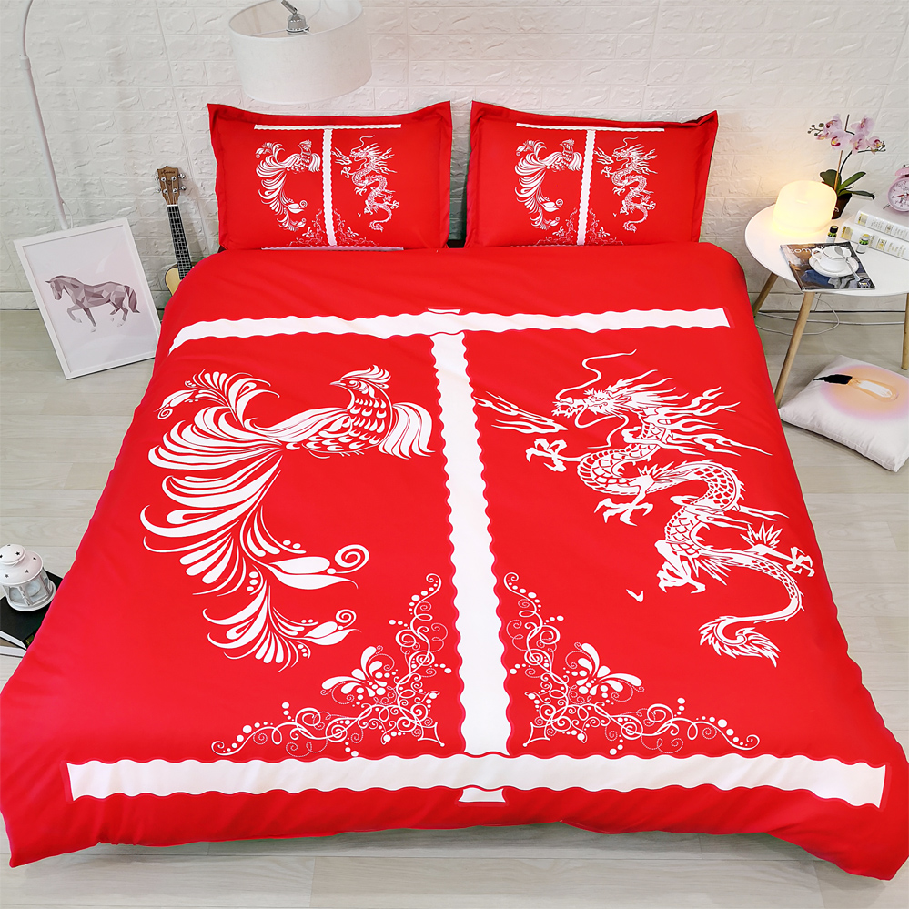 US $72.67 8% OFF|JF 243 Chinese Traditional Wedding bedding sets 4pcs  dragon and phoenix bed set-in Bedding Sets from Home & Garden on AliExpress  - ...
