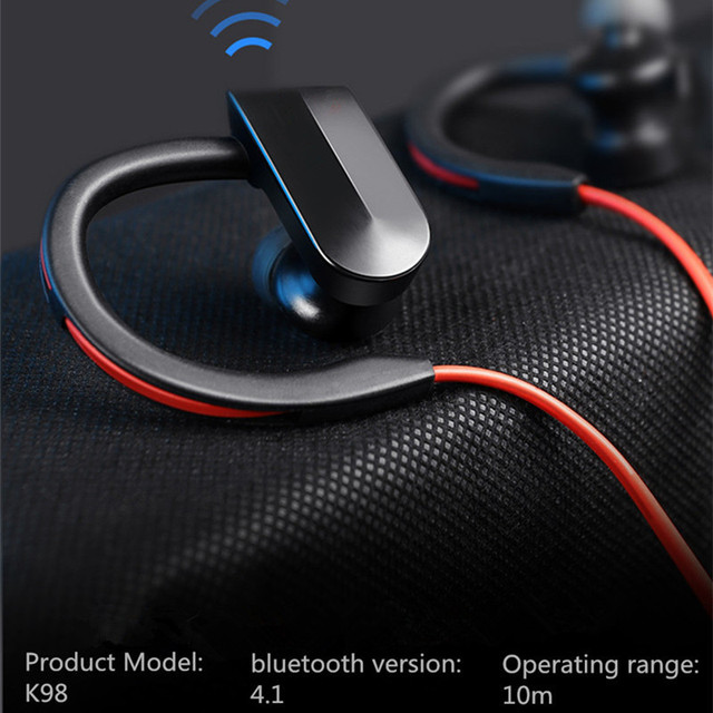 Sport Bluetooth Headphone Wireless Earphone Bluetooth Headset Waterproof noise reduction with Microphone for android ios phones 5