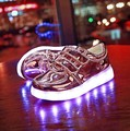 2016 Baby Girls/Boys LED Light Sneakers  Colors Children Fashion USB Charging Sneakers Kids Flashing Lights Shoes Size 25-34