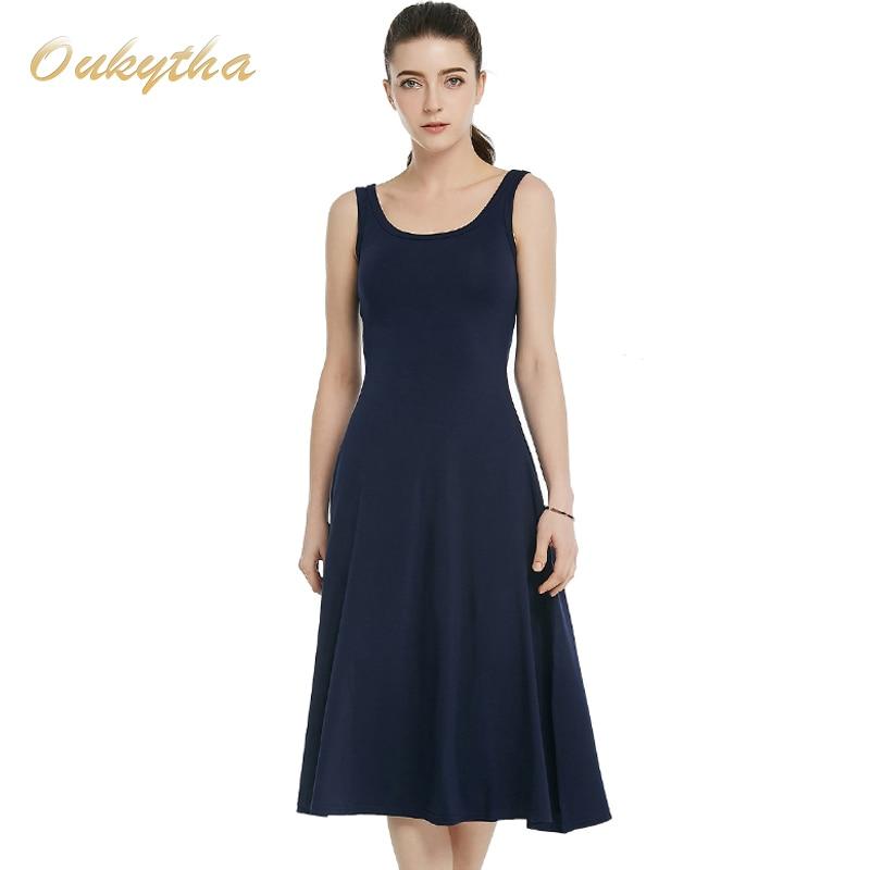 Summer Dress 2017 Korean Fashion Slim Woman Dress Sexy High Waist Sleeveless Vintage Dress Casual Cotton Long Dress Q16187