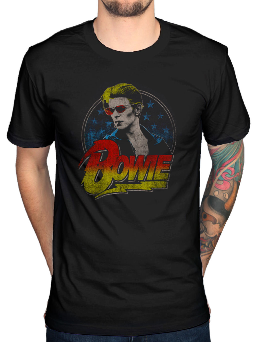 Gildan Fashion Short Sleeve David Bowie Rauchen Grafik T Shirt R.I.P. Legend Jagger Printed T Shirt O-Neck Cool Tops