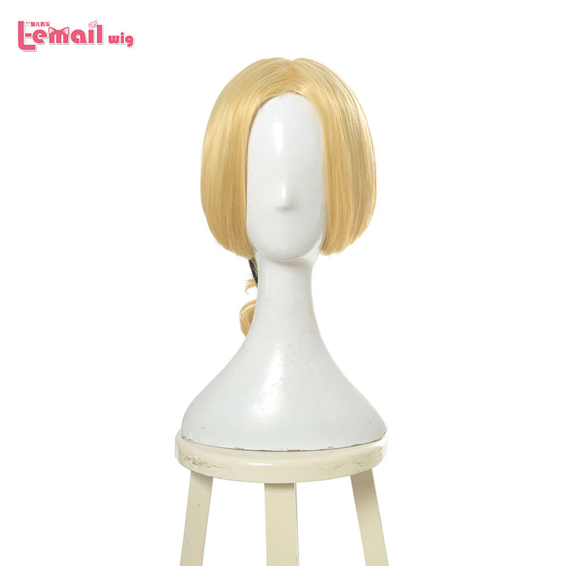 L-email Wig Ladybug Cosplay Queen Bee Wig 45cm Yellow Ponytial Cosplay Wigs Heat Resistant Synthetic Hair Perucas