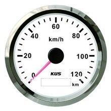 KUS DN85mm белый/черный gps Спидометр 0-120KMH для автомобиля, грузовика, мотоцикла(PN: KY08121/KY08024