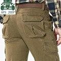 АФН JEEP Хаки/Черный/Army Green мужская Многие Карманы Свободные Брюки, Досуг мужские Мотоцикл Грузовой брюки, работника Рабочие Штаны