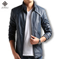 2016 Men Leather Jacket Fashion Fitness Men Zipper Coats Slim Fit Jaqueta Masculinas Inverno Couro Mens Leather Pu Jacket Hombre