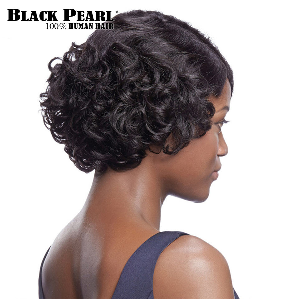 Cute Wig Short-Hair Finger-Waves Black Women African Curly