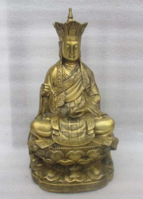 China's rare bronze buddhist exorcism earth treasure bodhisattva statues