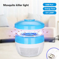 Mosquito Killer Lamp LED Light 5W Smart Optically Controlled UV Insect Killing Lamp Charge For Living Room Night Lights