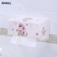 SHALL Europe Melamine Non trace Stick Wall Hanging Waterproof Home&Car Tissue Case Box Sanitary Accessories Napkin Paper Holder