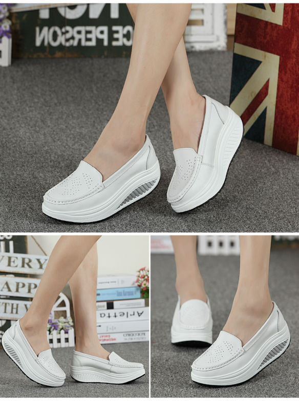 New Womens Shake Shoes Lady Genuine Leather shoes (28)