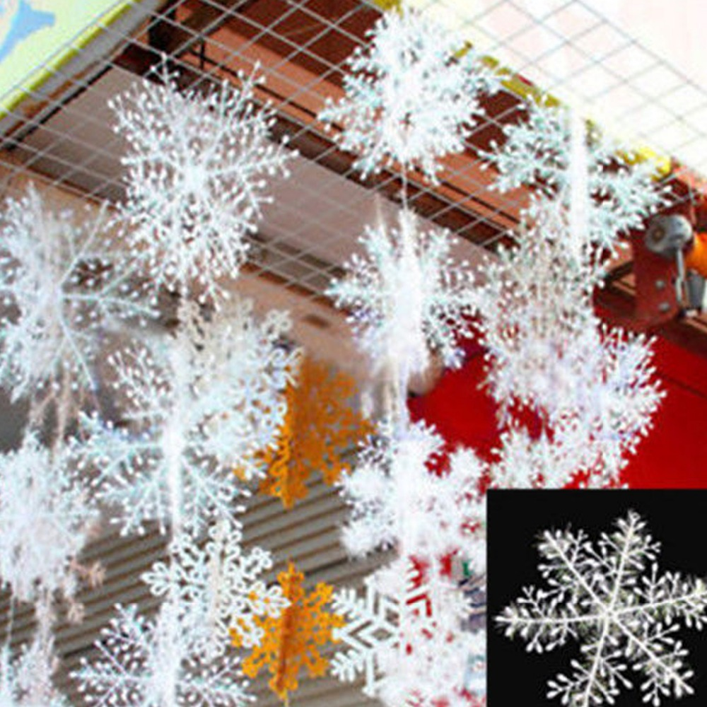 30pcs snowflake christmas ornaments christmas tree for Art for decoration and ornamentation