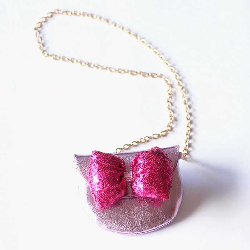 Новое поступление милые бантом маленький кожаная сумка Mini Crossbody сумка для подарок бесплатная доставка