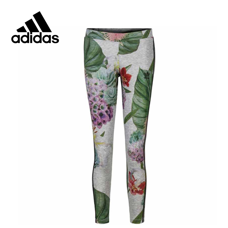 Adidas Original New Arrival Official Women's Tight Elastic Waist Colourful Pants Sportswear AJ8879 original new arrival official adidas women s tight elastic training black pants sportswear