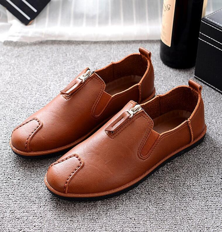 2017 High Quality men Genuine Leather Shoes Soft Moccasins Loafers Fashion Brand Men Flats Comfy Driving Shoes zapatos hombre 2017 new brand breathable men s casual car driving shoes men loafers high quality genuine leather shoes soft moccasins flats