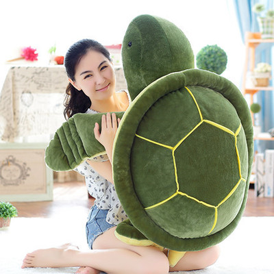 stuffed plush toy large 100cm cartoon green tortoise plush toy turtle soft throw pillow birthday gift b1235 djeco djeco рамка вкладыш головоломка пазл лило