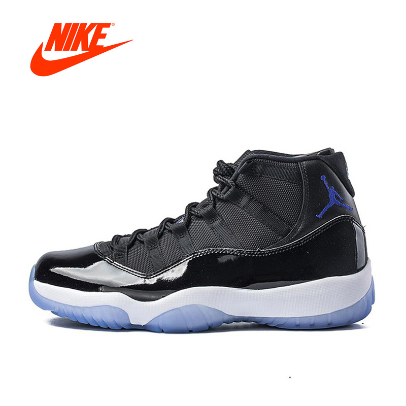 Original New Arrival Authentic Nike Air Jordan 11 Space Jam  Breathable Men's Basketball Shoes Sports Sneakers купить