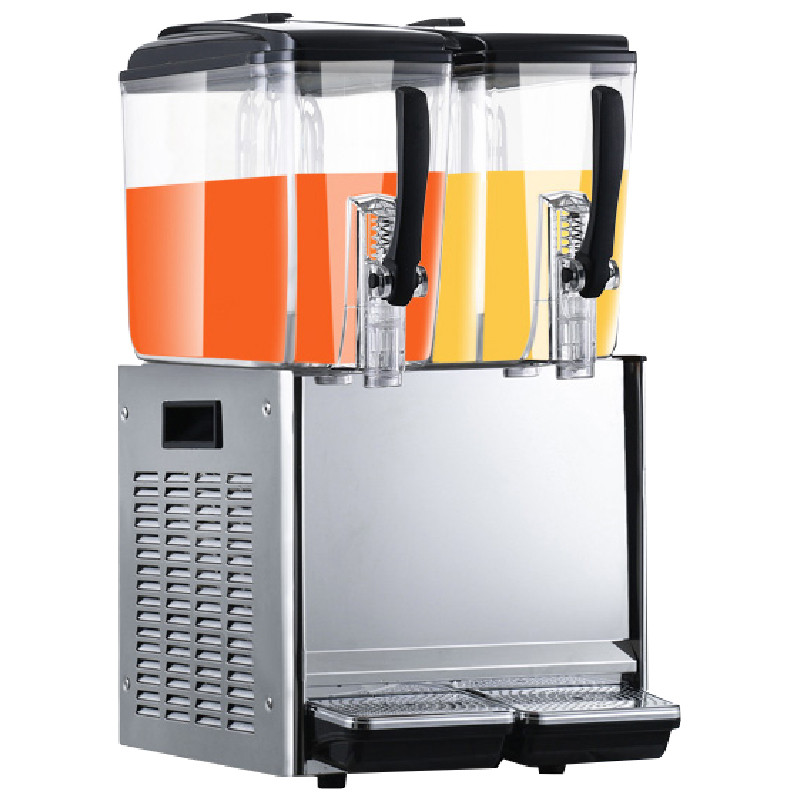Jamielin Two-cylinder Juice Machine Drink Container 12L *2 Commercial Juice Dispenser Cool & Mixing Beverage Machine