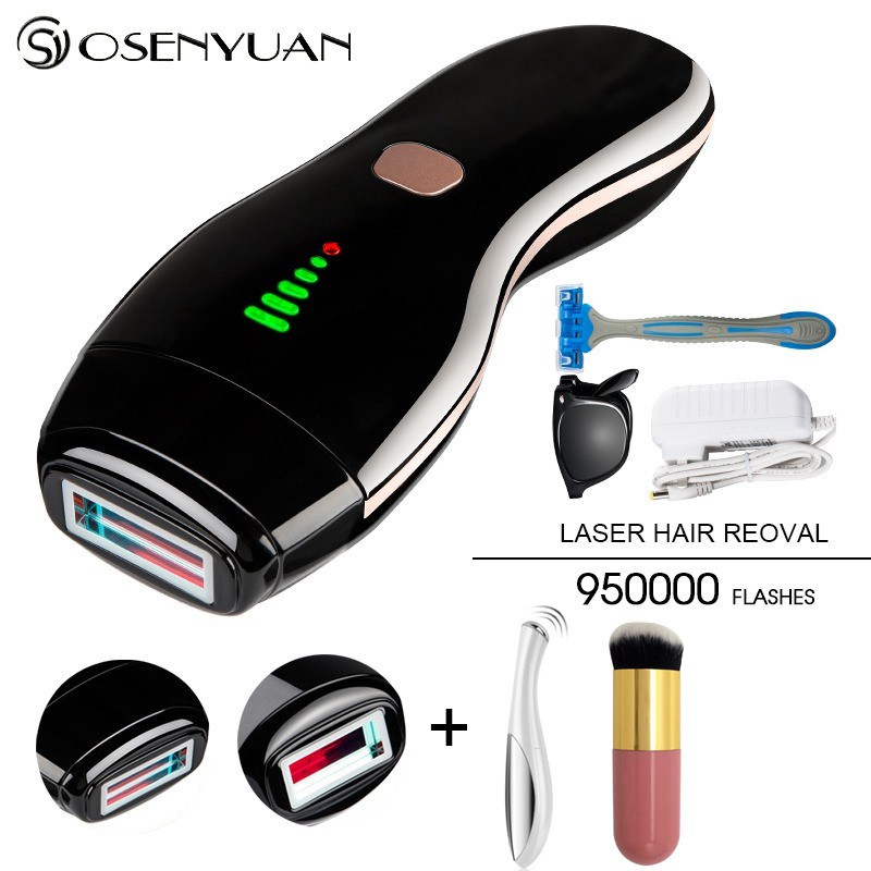 950000Puls 3in1 IPL Laser Hair Removal Machine Laser Epilator Hair Removal Permanent Bikini Trimmer Electric depilador a laser in Epilators from Home Appliances