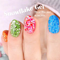 Yaoshun Snowflake Nail Gel Polish 1pcs UV Soak Off Gel Varnish DIY Nail Art Salon Gel Lacquer 24Colors