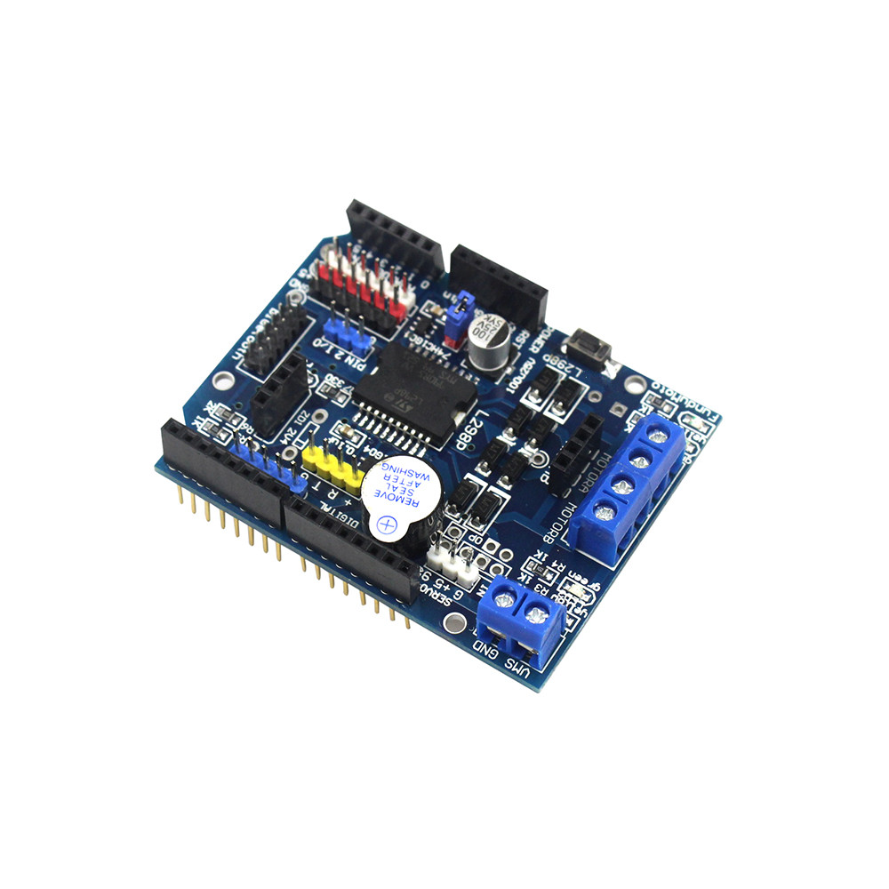 L298p motor shield motor drive for arduino compatible with uno mega 2560 in integrated circuits Arduino mega 2560 motor shield