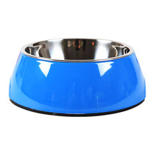 Cat Bowl  Dog Water Bottle Pet Food Container Stainless Steel Portable Cute 50GP012