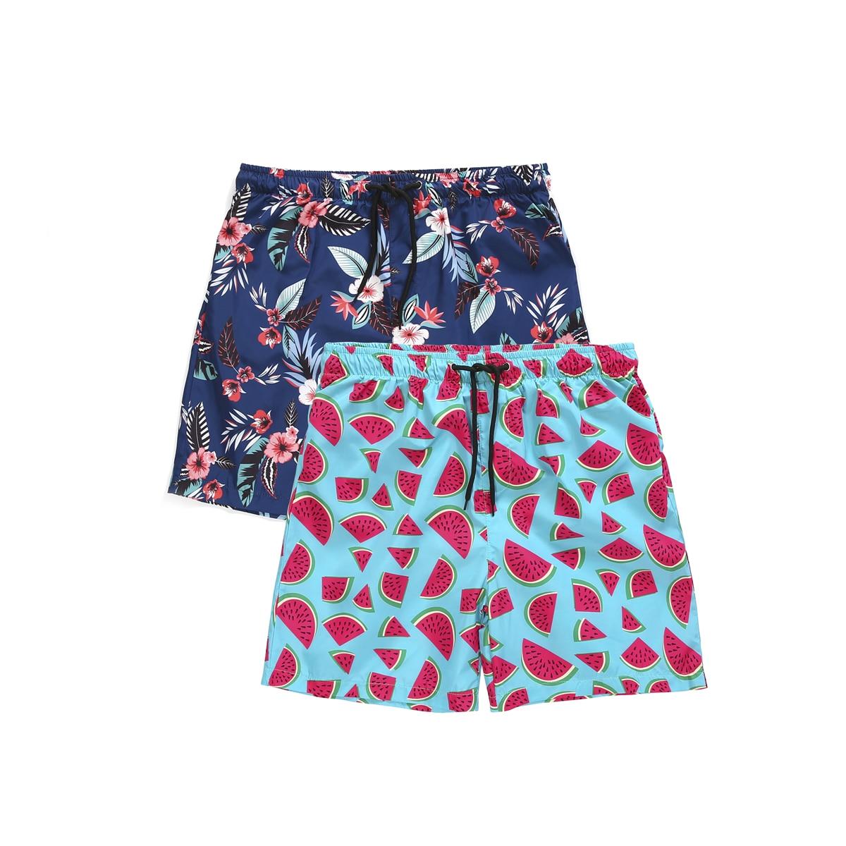 Summer Hot Men Watermelon Print waterproof   Board     shorts   Beach   Shorts   Wear Trunks Pants