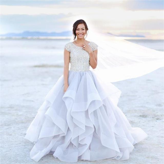 short ruffle organza dress