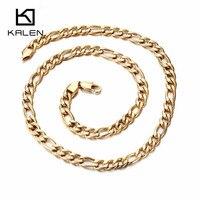 Kalén New Gold Màu 55 cm Dài Chuỗi Vòng Cổ Giá Rẻ Thời Trang Mens Liên Kết Chuỗi Vòng Cổ Mát Nam Quà Tặng Phụ Kiện Miễn Phí vận chuyển