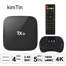 TX2 R2 Android TV BOX 2GB 16GB Bluetooth 2.1 4K 60tps 2.4GHz WiFi Quad Core Media Player IPTV Android Tv Set Top Box PK X96 Mini 2018 tx2 2gb 16gb rockchip rk3229 android 6 0 tv box wifi media player eu plug