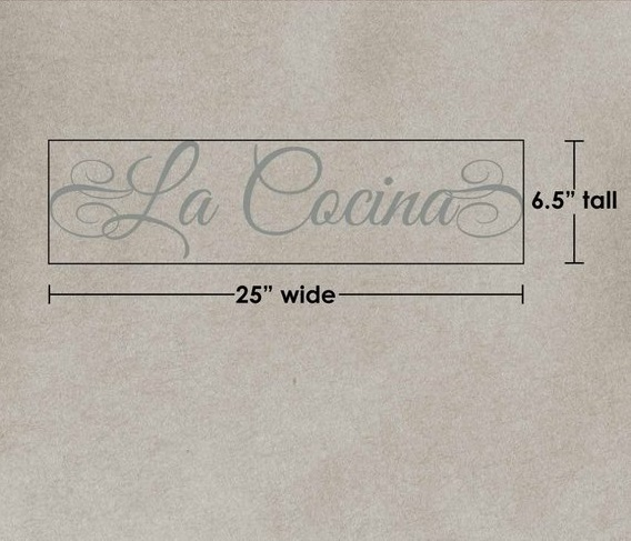 Spanish kitchen quotes Spanish wall decals La Cocina wall decal calcomanias para pared vinyl lettering frases en espanol