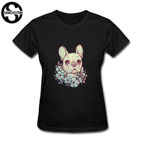 SAMCUSTOM Cute French Bulldog T Shirts For Women Harajuku Funny Product Tops Lady Casual Short Sleeve