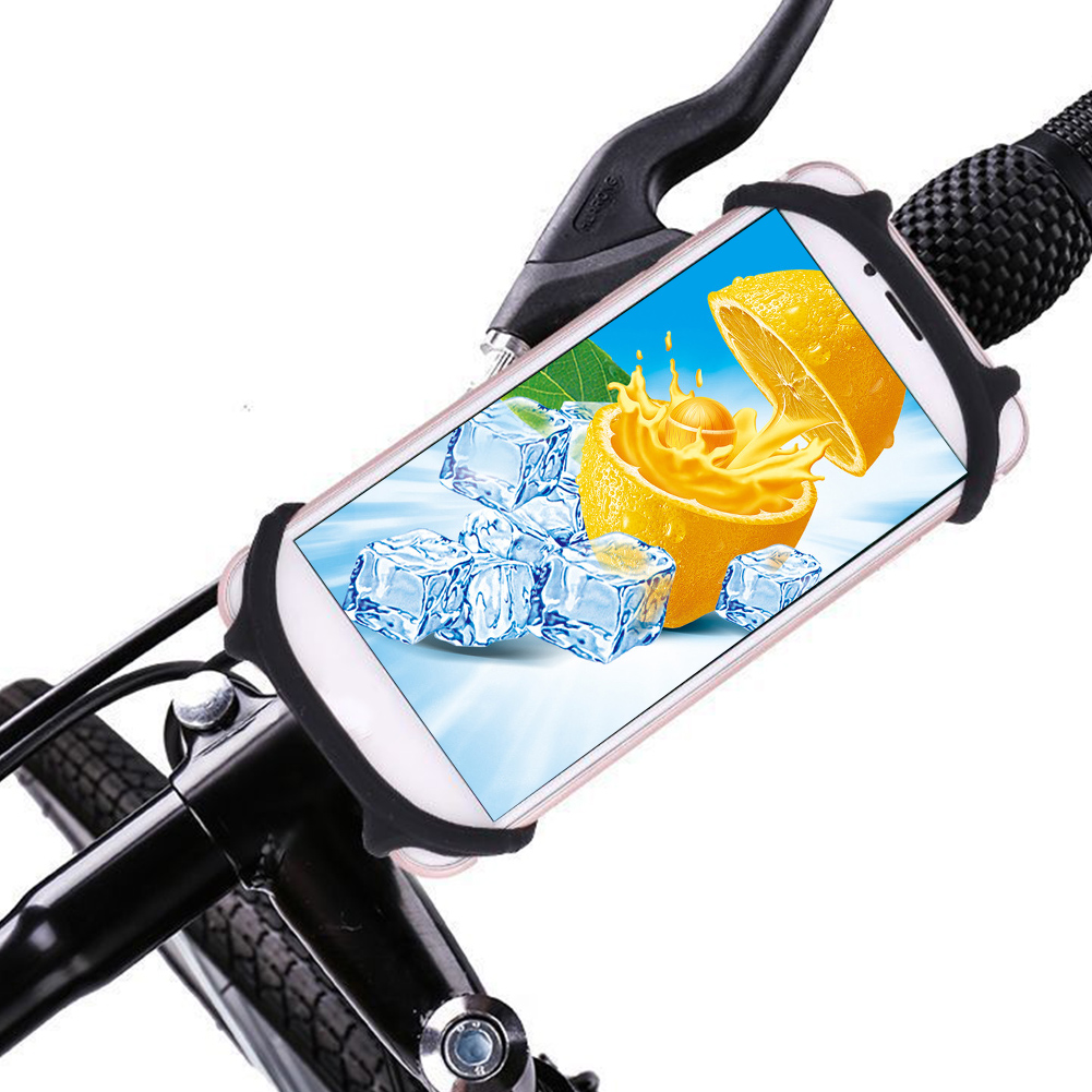 Convenient Bike Bracket Silicone Accessories Mobile Phone Holder Baby Stroller Scooter Bicycle Mount Portable For Motorcycle