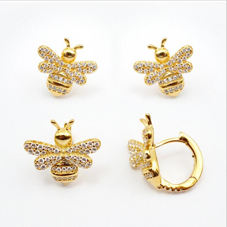 Classic design tiny mini circle clip on gold women Young girl gift Cute delicate 3 colors fashion cz earring