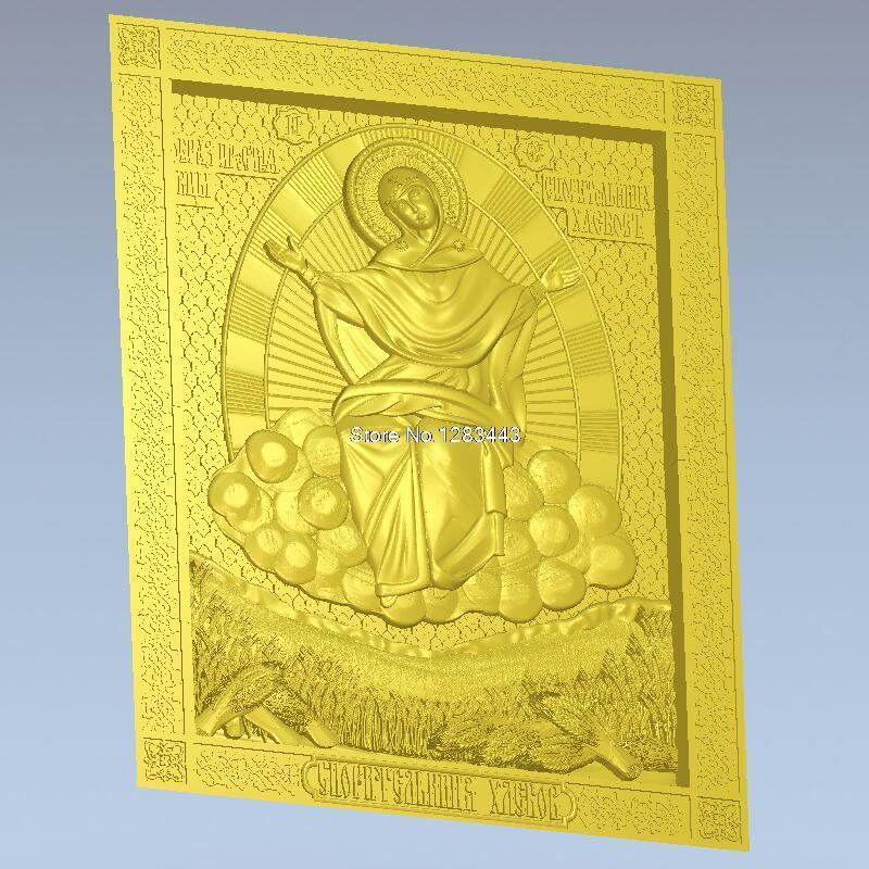 High quality 3d model relief  for cnc or 3D printers in STL file Mother of God prosperess of loaves icon of the mother of god undying color 3d model relief figure stl format religion 3d model relief for cnc in stl file format
