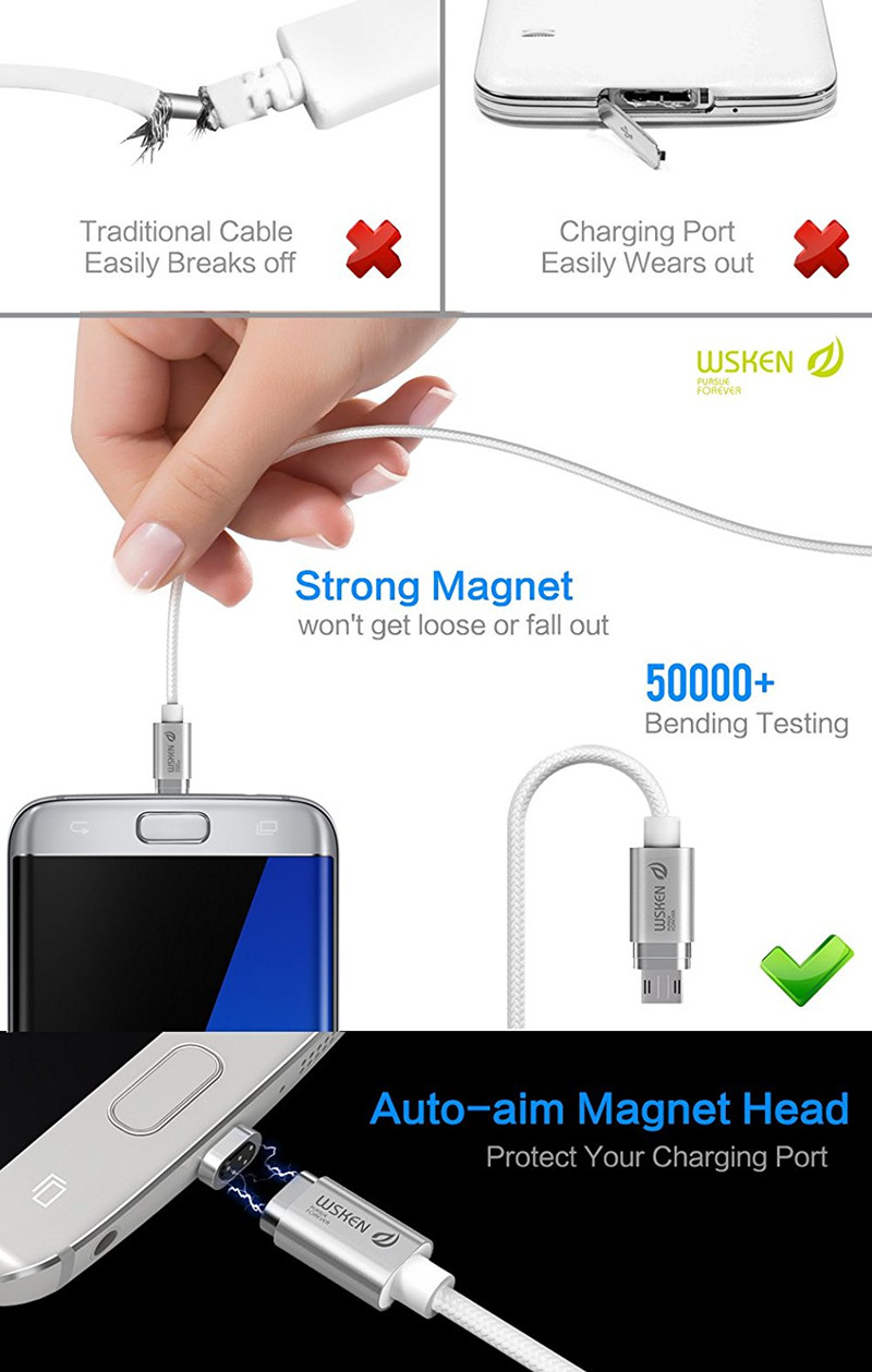 wsken magnetic fast charger USB data cable (2)