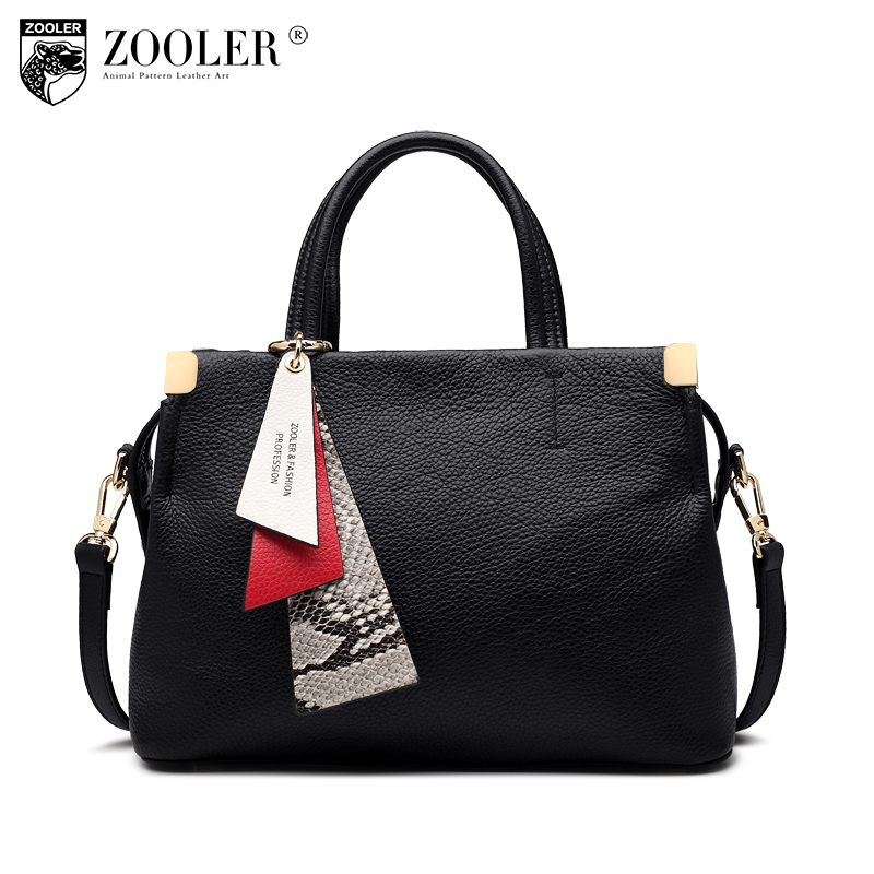 ZOOLER High Quality Genuine Leather Handbag Women Luxury Handbags Women Bags Designer Fashion Versatile Shoulder Bag Lady H131 zooler women handbag elegant ol shoulder bag ladies cow leather handbags fashion corssbody bags designer genuine leather handbag