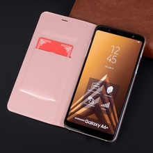 Slim Leather Wallet Case Flip Cover With Card Holder Phone Carrying Bag For Samsung Galaxy A6 2018 SM-A600F A6Plus 2018 SM-A605F цена и фото
